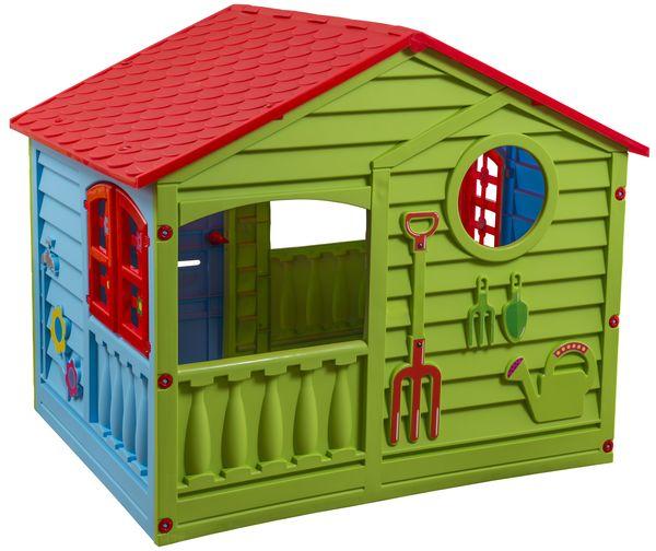 Домик игровой (красный, зеленый, голубой)