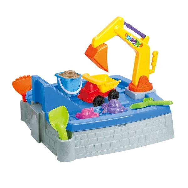 """Песочница-игровой стол """"Весёлая стройка"""" (9 предметов)"""