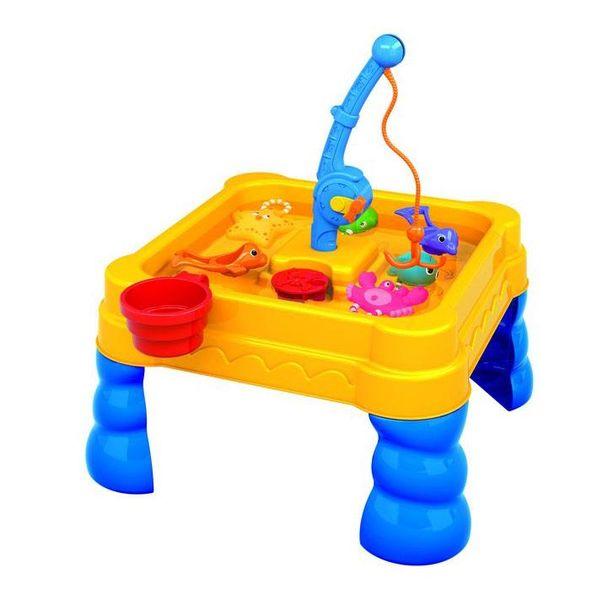 """Стол для игр с песком и водой """"Весёлая рыбалка"""" (14 предметов)"""