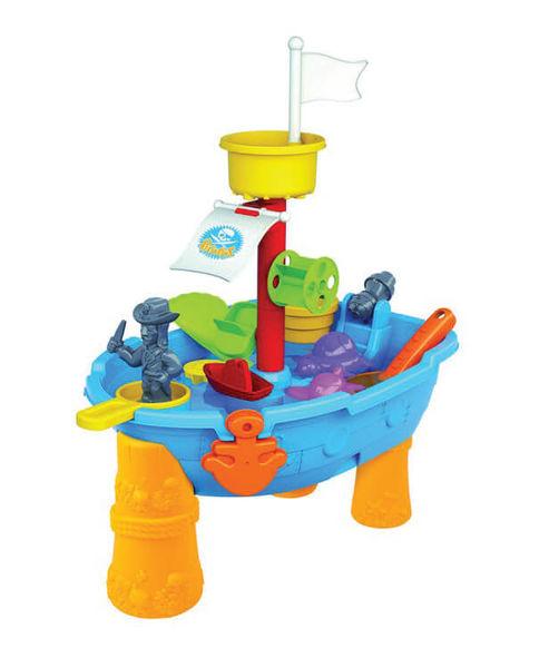 """Стол для игр с песком и водой """"Корабль пиратов"""" (24 предмета)"""