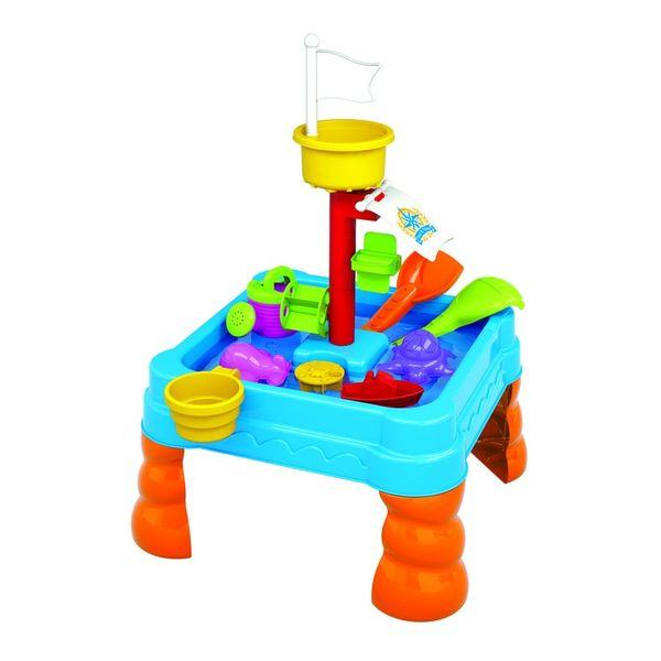 """Стол для игр с песком и водой """"Яркие приключения"""" (21 предмет)"""