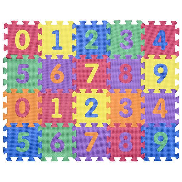 """Игровой коврик-пазлы """"Цифры-4-10"""", т. 10 мм, 0,45 м2"""