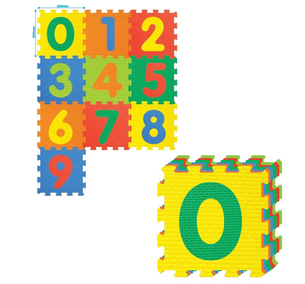 """Игровой коврик-пазл """"Цифры"""", 1 м2"""