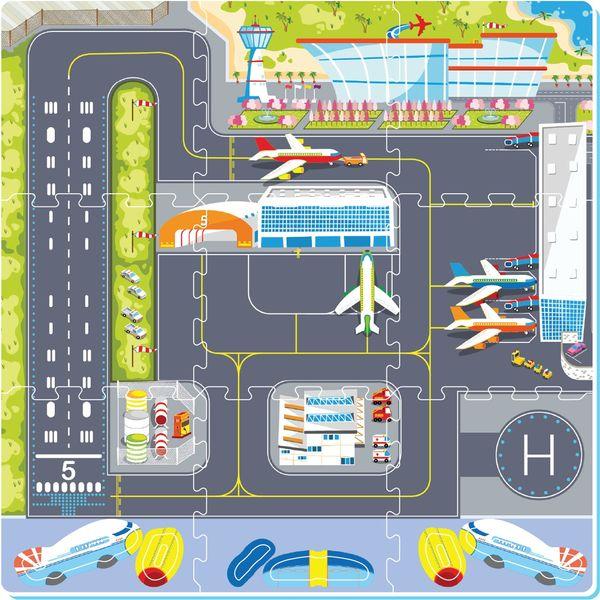 "Коврик-пазл ""Аэропорт"", 0,85 м2"