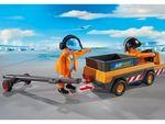 Городской Аэропорт: Буксир самолета с наземной командой